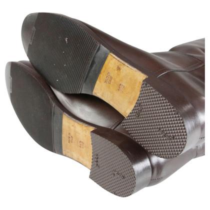 Ralph Lauren Bruine leren laarzen