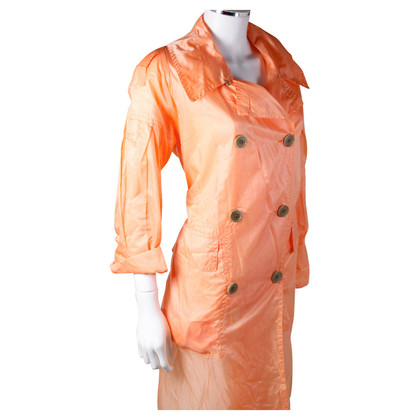 Dries van Noten Apricotfarbener rad trenchcoat