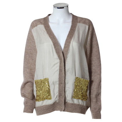By Malene Birger Beige materiaal mix Cardigan