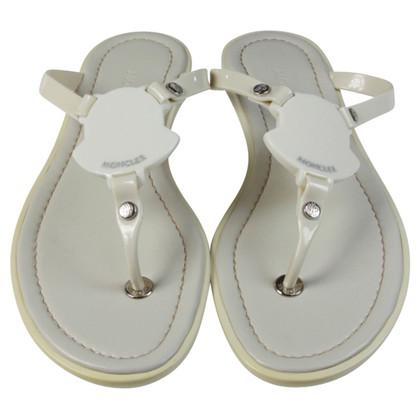 Moncler White toe sandals