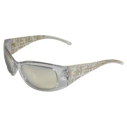 Fendi Transparent frame mirrored sunglasses