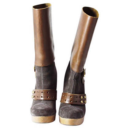 Pedro Garcia Fancy brown leather boots