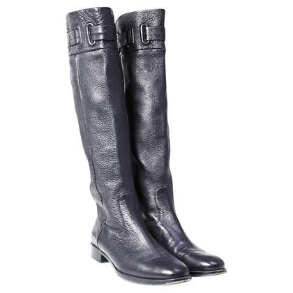 Hugo Boss Stivali in pelle nera