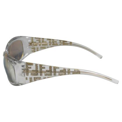 Fendi Occhiali da sole montatura trasparente specchiata