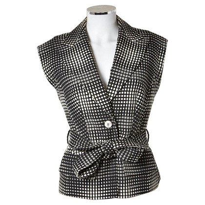 Escada black and white vest