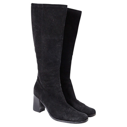 Bally Suede boots black