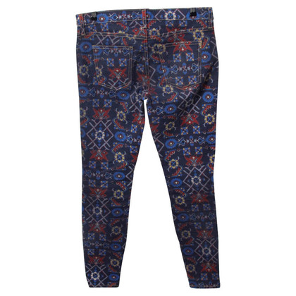 Current Elliott Blue patterned jeans