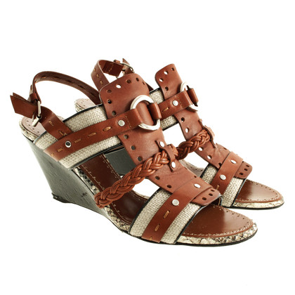 Proenza Schouler Brown wedge sandals