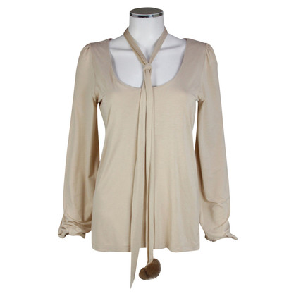 Schumacher Beige Jersey shirt with button