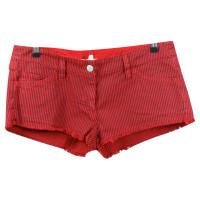 Isabel Marant Etoile Red stripe jeans shorts