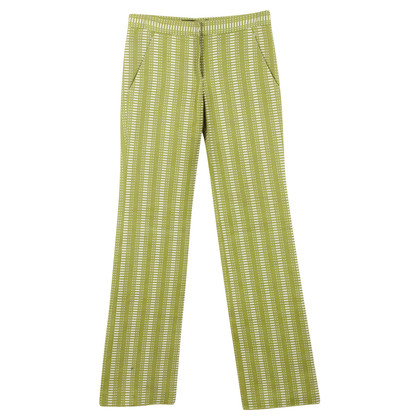 Louis Vuitton Green White patterned pants