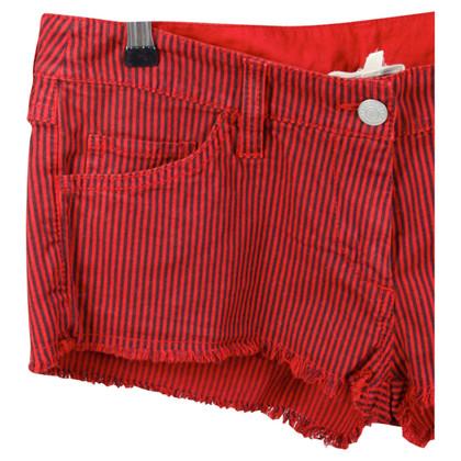 Isabel Marant Etoile Pantaloncini di jeans striscia rossa