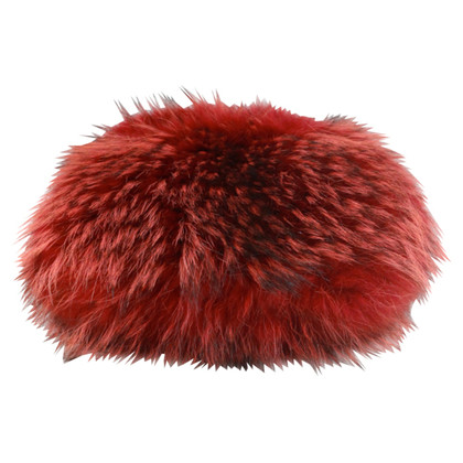 Laurèl Fur muff Red