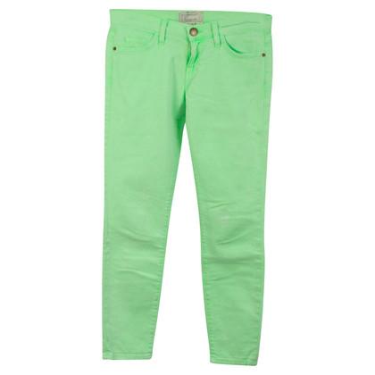 Current Elliott Neongrüne Skinny-Jeans