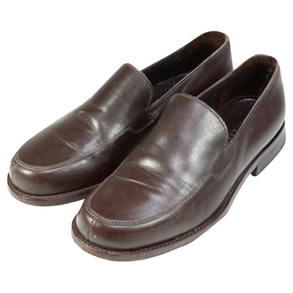 Prada Brown smooth leather slipper