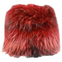 Laurèl Manicotto di pelliccia in rosso