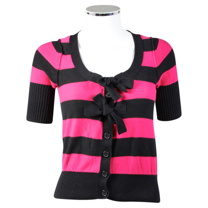 Sonia Rykiel for H&M Cardigan a righe nero-rosa
