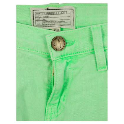 Current Elliott Neon groen van mager jeans