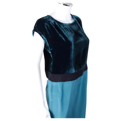 Fendi Green Velvet/silk mix dress