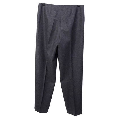 Jil Sander Anthracite cashmere-silk trousers