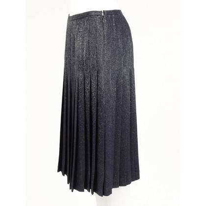 Michael Kors Pleated skirt Navy blue-glitter