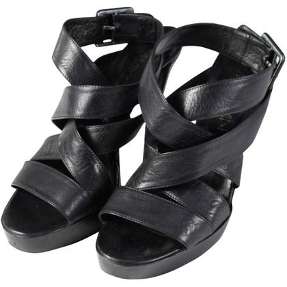 Marc Cain Zwarte plateau sandalen