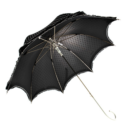 Moschino Cheap and Chic Stick umbrella with polka dots