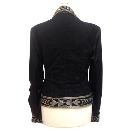 Christian Dior Black Blazer met decoratieve bekleding