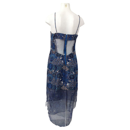 Helmut Lang Blue patterned dress
