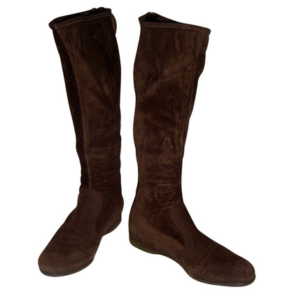 Miu Miu  Brown suede boots