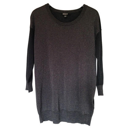 Donna Karan Colorblocking Pullover schwarz/metallic
