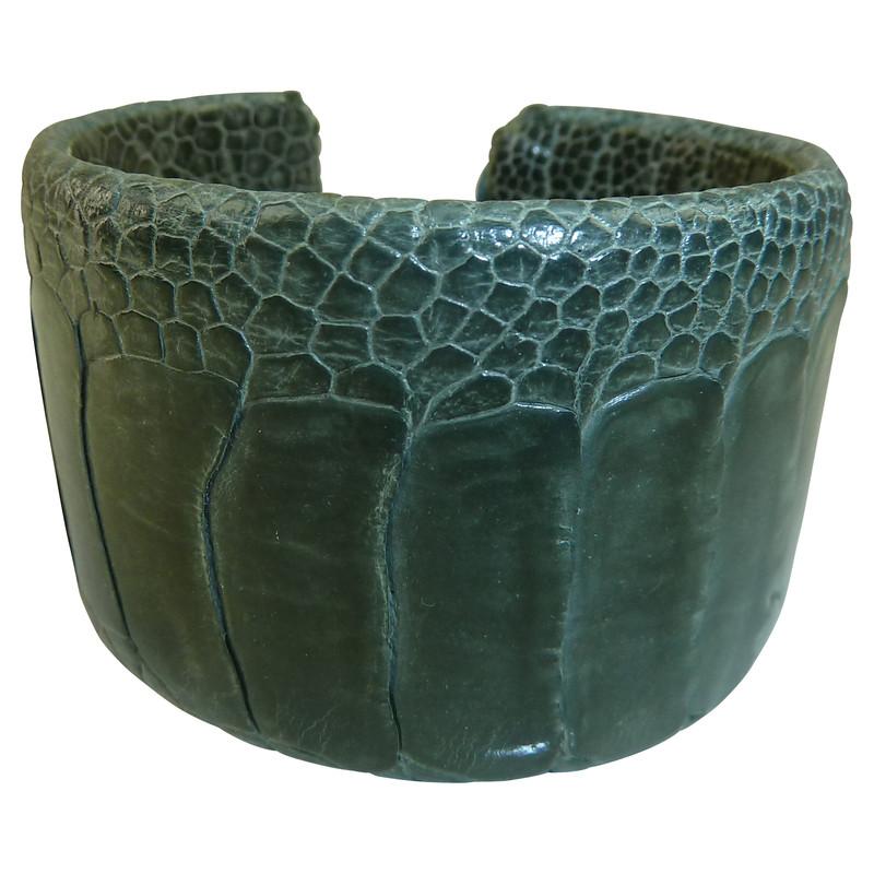 Other Designer Leather bracelet from ostrich leg skin