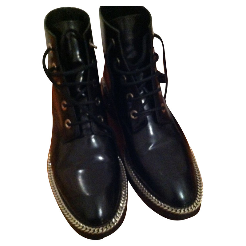 sandro black boots with chain detail buy second