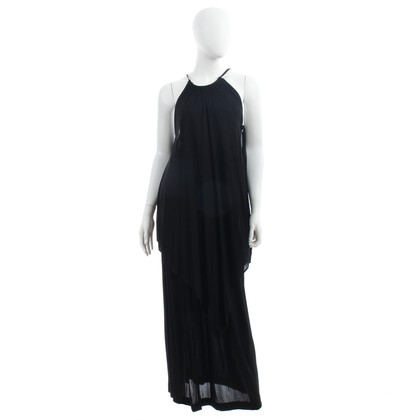 Saint Laurent Evening dress black two-piece Gr. FR 36 vintage rare 1970s years
