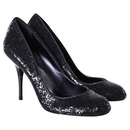 Sergio Rossi Black sequin pumps