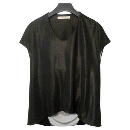 Balenciaga Top black with draped back part