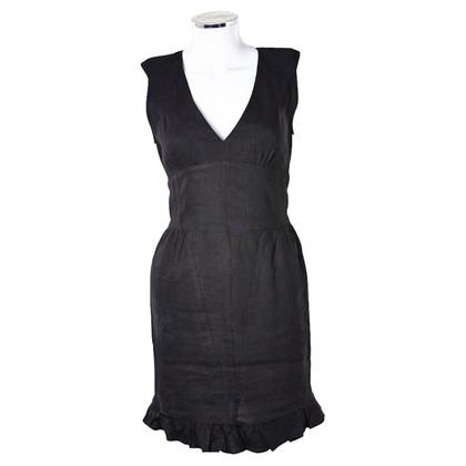 Sandro Black dress with deep V-neck