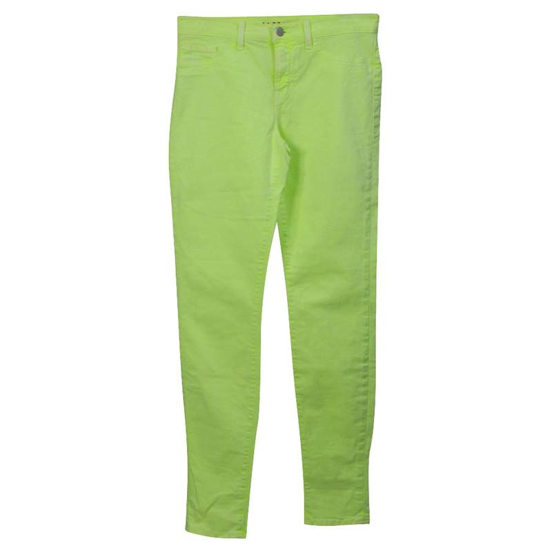 J Brand Al neon giallo di jeans lavato