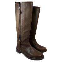 Hermès Stivali in pelle marrone