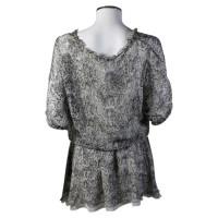 Patrizia Pepe Patterned silk tunic