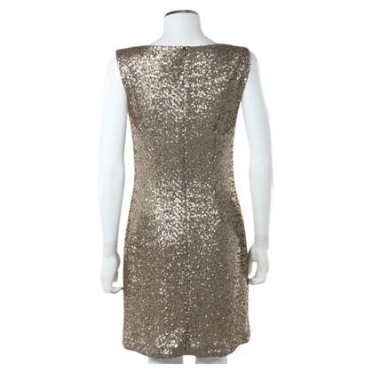 Barbara Schwarzer Gouden Pailletttenkleid