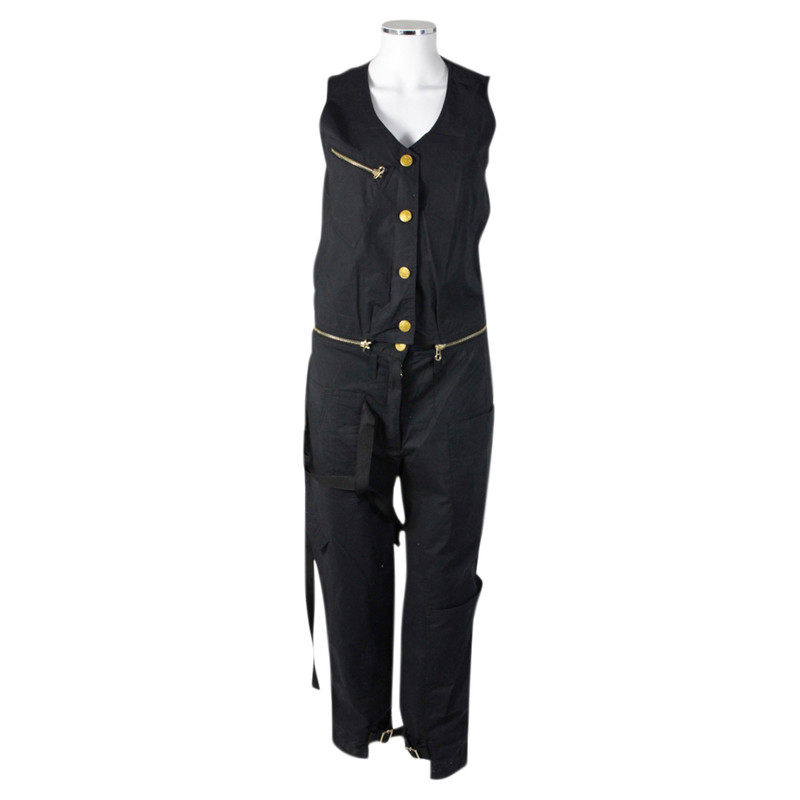 Jet Set Overall in Schwarz