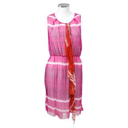 Allude Zijden jurk in roze
