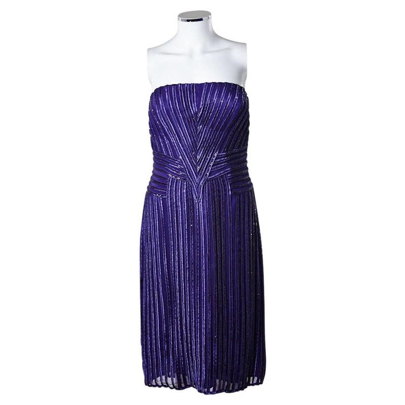 Barbara Schwarzer Party dress con nastri applicate di perline