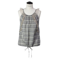 Vanessa Bruno Plaid top with ruffle