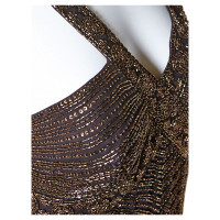 Barbara Schwarzer Evening dress Brown with sequins and crossed straps