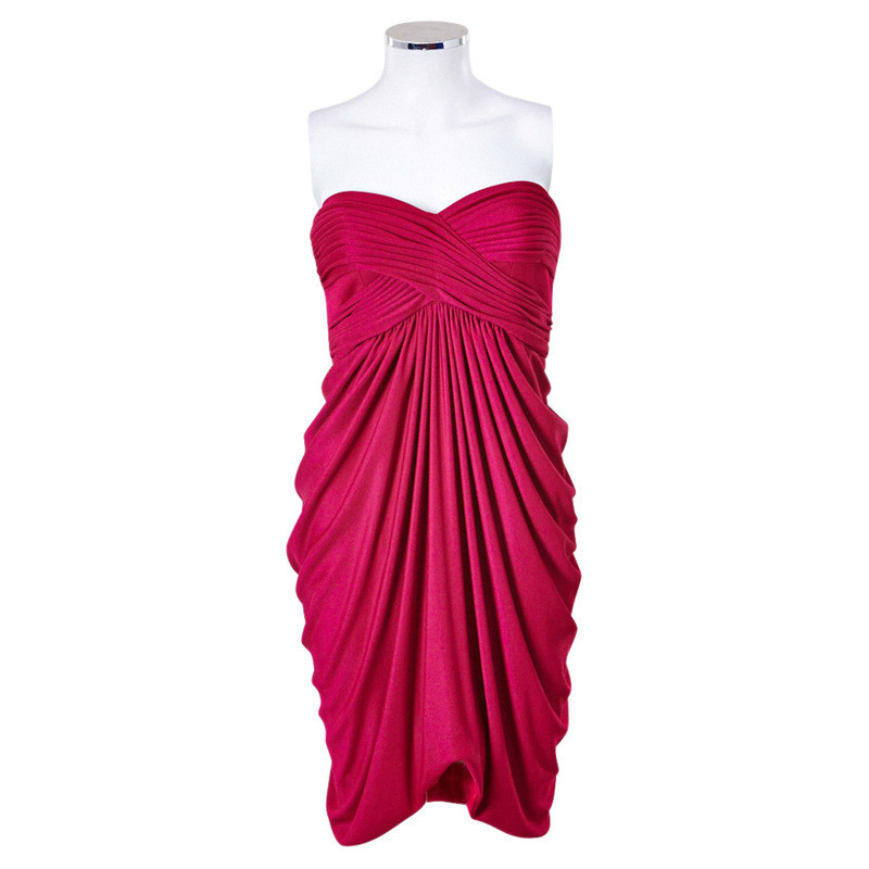 Barbara Schwarzer Vestito da partito rosa riunito