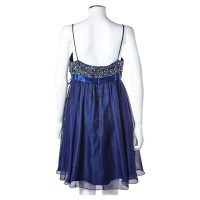Barbara Schwarzer blue evening dress with Pearl ornament