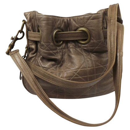 Christian Dior CHRISTIAN DIOR SCHULTERBAG IN LEATHER METALLIC BROWN