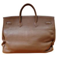 Hermès BIRKIN BAG - HAC 50 GOLD LEATHER TAURILLON CLEMENCE PALLADIUM